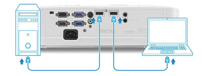 Nhiều đầu vào HDMI và VGA cho kết nối chung
