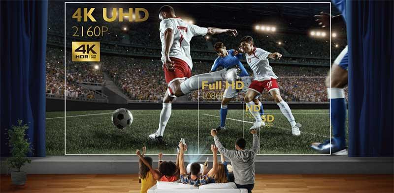 Độ phân giải thực 4K UHD với 8,3 triệu điểm ảnh hoàn hảo
