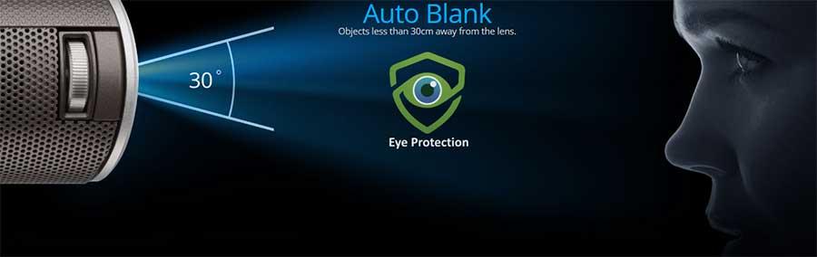 Máy chiếu Mini Viewsonic M1 có chức năng bảo vệ mắt