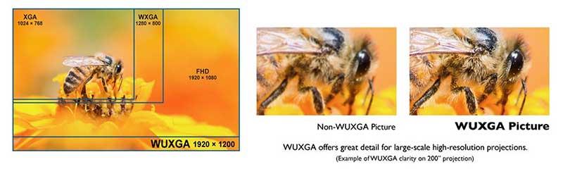 Độ phân giải WUXGA cho chi tiết nâng cao và nội dung mở rộng