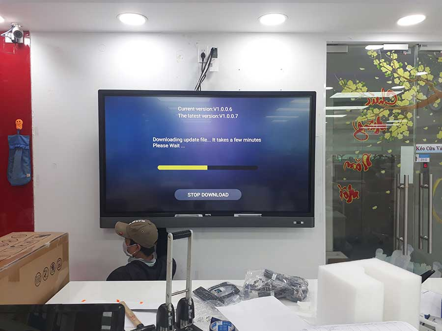 Triển khai lắp đặt màn hình tương tác thông minh BenQ cho Công ty tư vấn xây dựng Đông Thái Sơn
