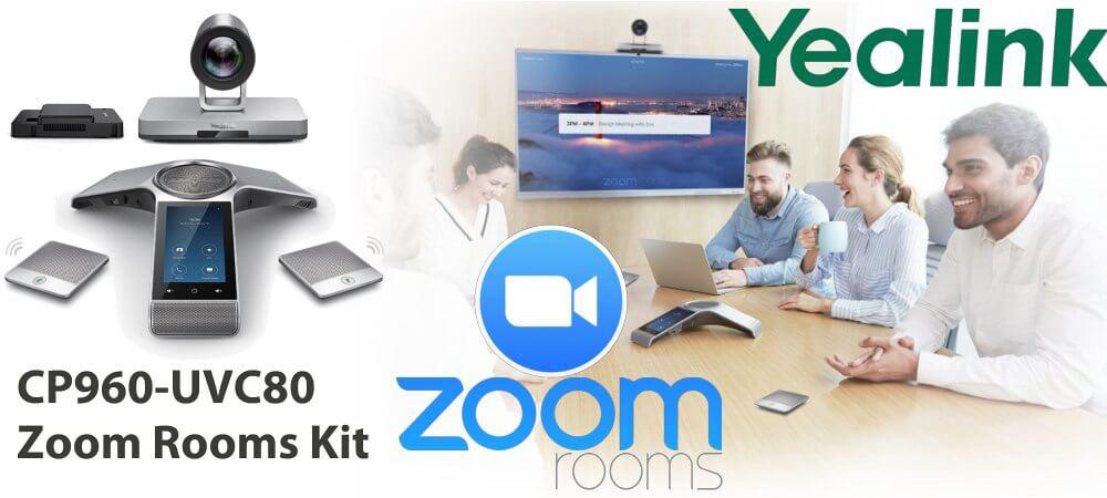 Giải pháp hội nghị truyền hình Yealink CP960-UVC80 Zoom Rooms Kit