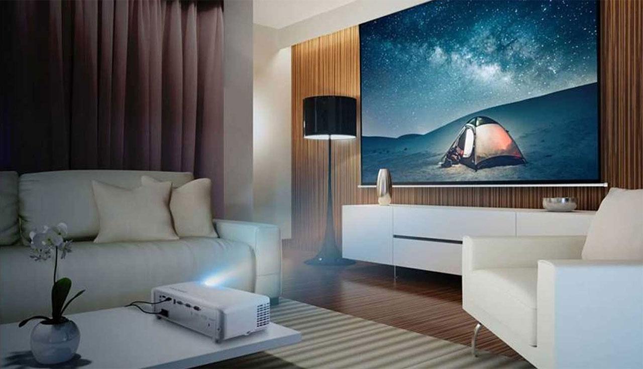 Máy chiếu giải trí với cường độ sáng 3,500 Lumens và độ phân giải 1080p